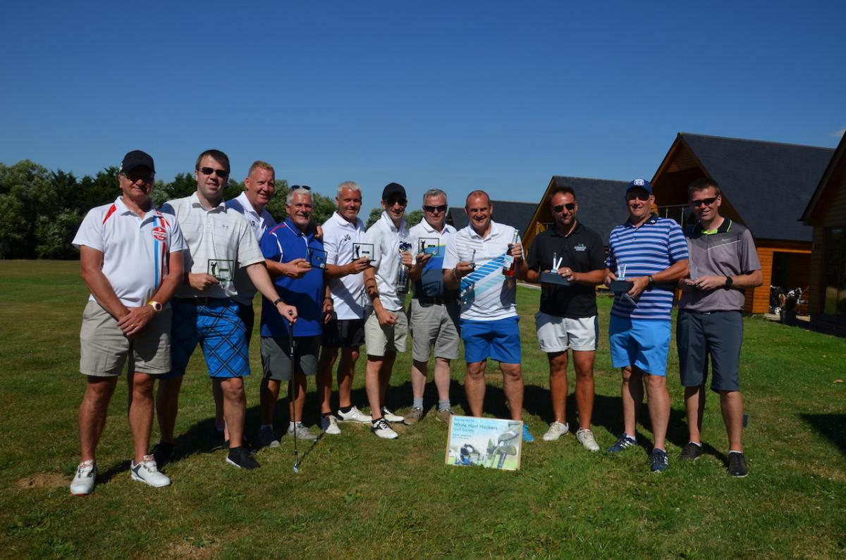 Annual Charity Golf Day - 15 July - The winning team of White Hart Hackers - well done guys