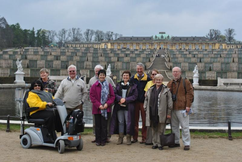 Berlin jaunt April 2012 - In front of Schloss Sans Soussouci