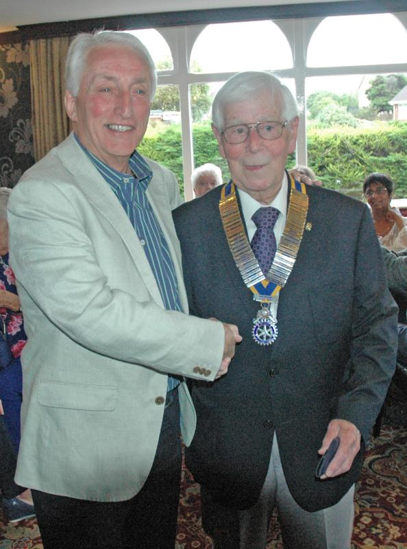 Past Presidents Night - Handover from Peter Connor to George Rodda