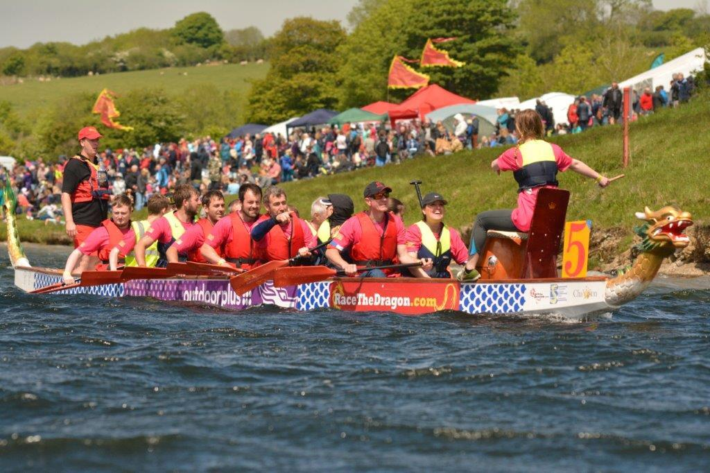 Contestants at last year's Welsh Dragon Boat Championship held by Narberth & Whitland Rotary Club at Llysyfran Country Park, Pembrokeshire