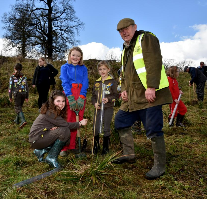 Easter Tree Planting in Clitheroe -
