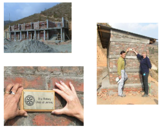 Works at the Danda-Kharka school after the 2015 earthquake.