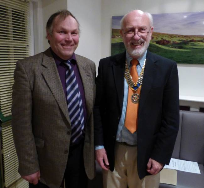 David Lambert inducted as Member - David with President John