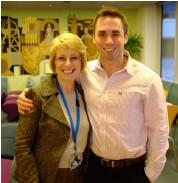 Libby Seath with her serving officer son David Seath - one of the many impressive speakers in 2012
