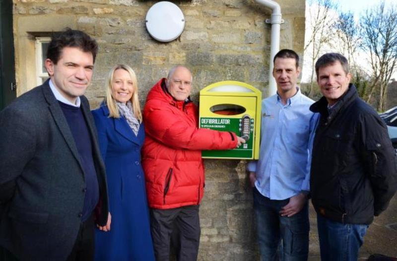 Launching the new Defibrillator at Cogges