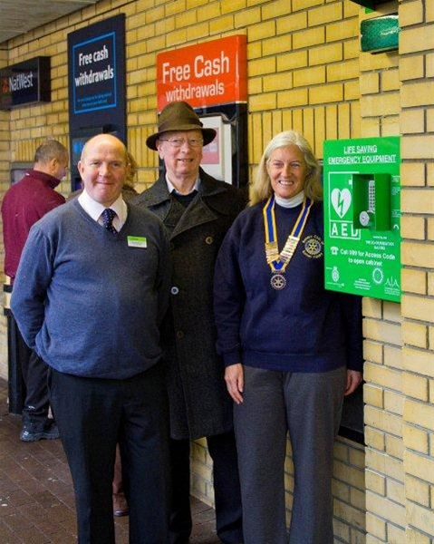 Defibrillator installed at Radco, Radstock Dec 2011 -