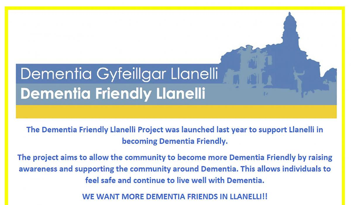 Llanelli Rotary working with Dementia Friends - Dementia Project