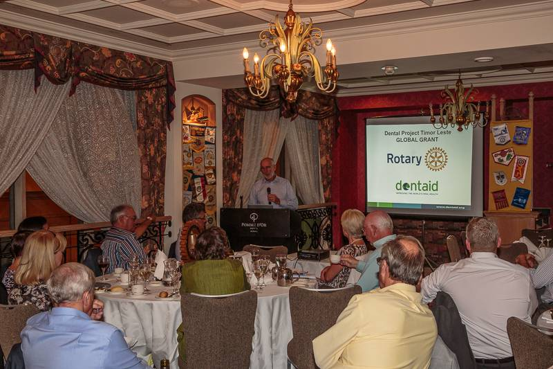 2014-09-24 Dentaid and Beneficiaries of Golf Day 2014 - Sandy Dunn delivering a talk on Dentaid