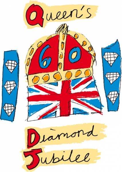 2012 06 05 Jubilee Party - The official Diamond Jubilee logo.
