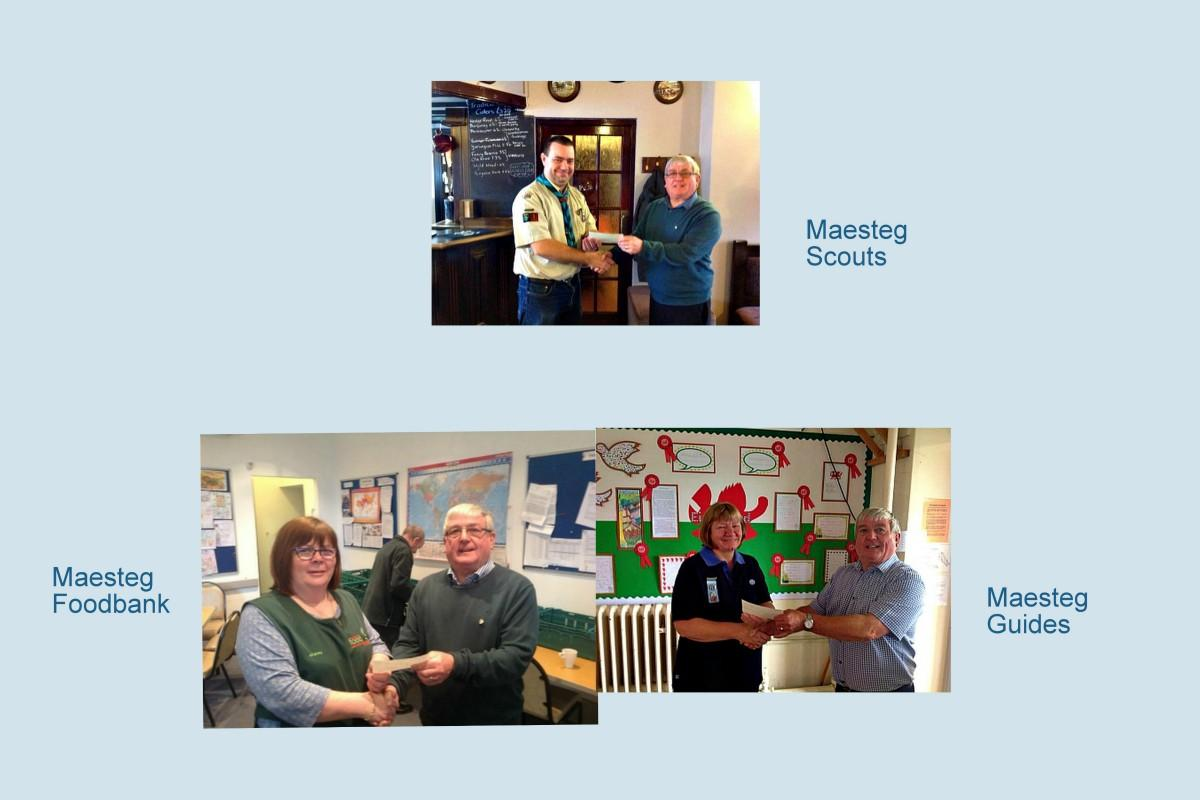 As a small Club we find that, giving to our local community is important to us. All thanks to our Maesteg volunteers.