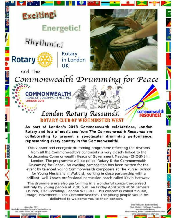 Rotary and The Commonwealth - Tree Planting and Drumming for Peace - Rotary and The Commonwealth Drumming for Peace