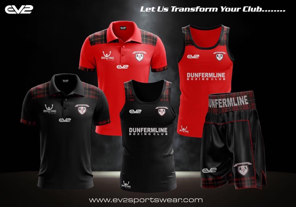 Dunfermline Boxing Club kit