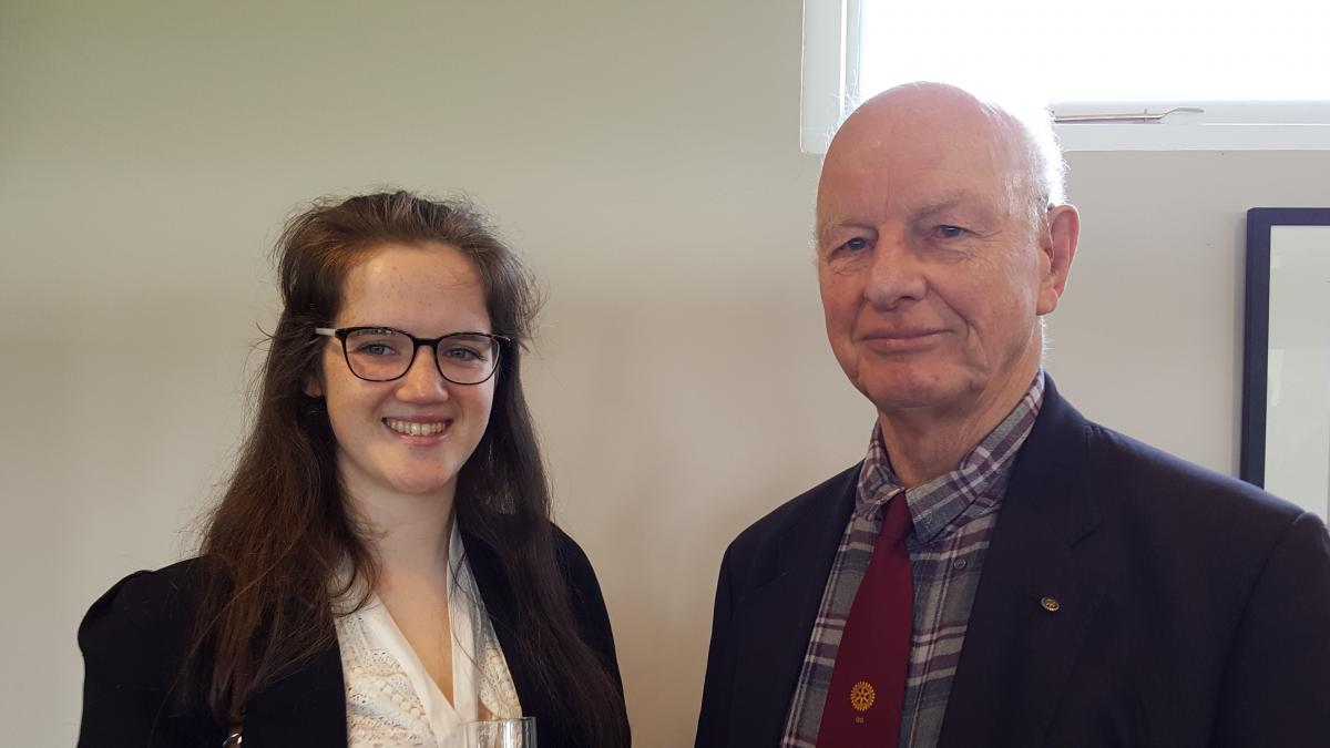 Emily Payne, volunteer with the Chairman of Taunton Rotary's International Committee, Chris Cutting