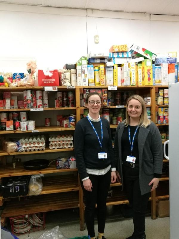 Emmanuel House charity workers Gill Barker and Lauren Howatson