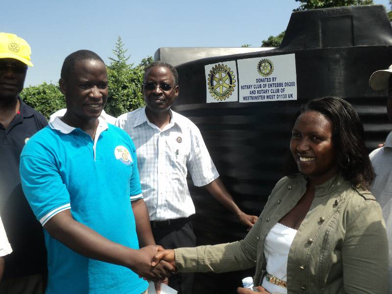 Three Water & Sanitation Projects in Entebbe -Uganda. - Handover of the Water Tanks at a ceremony on 25th May 2013.