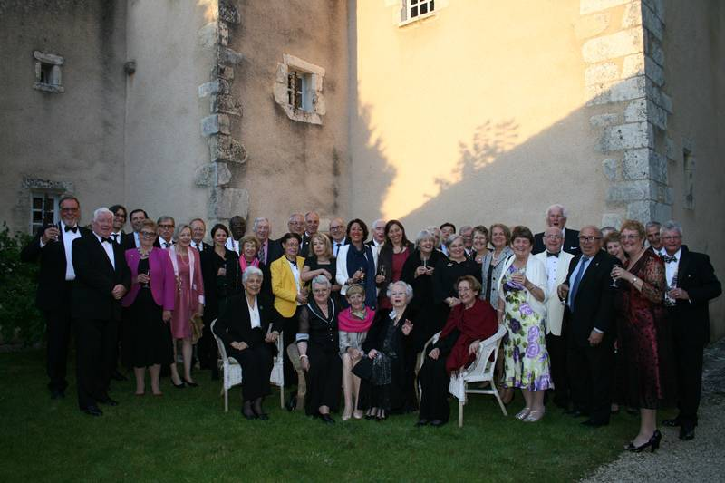Contact Club Reunion in Poitiers May 2014 - The assembled company of French, German & English Rotarians