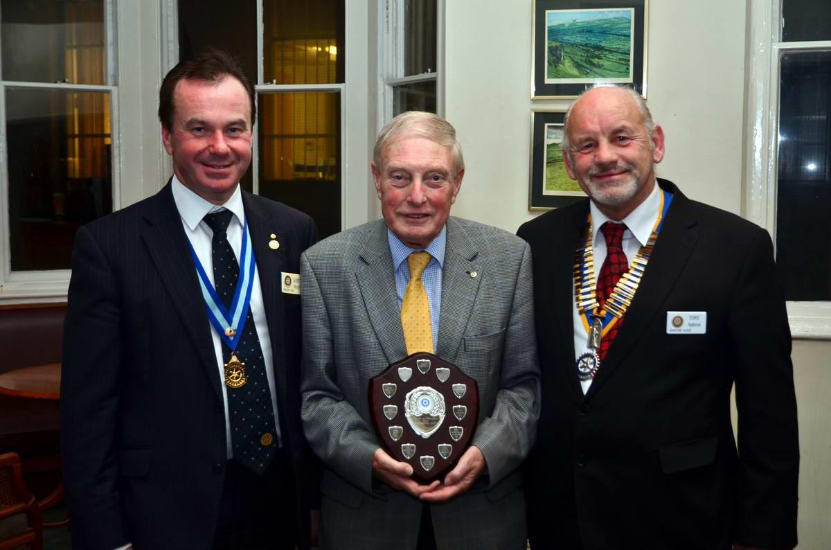 District 1040 Environmental Competition 2016 Winning Entry - Alan Morrell and President Tony Ashton being presented the Environmental Shield by District Governor Elect Robert Morphet