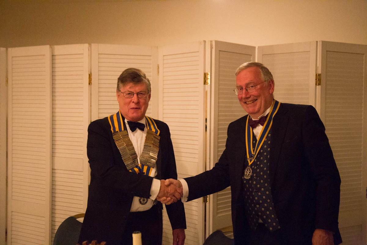 Thursday 29th June - Richard Deavin - Richard Deavin is inducted as the new President
