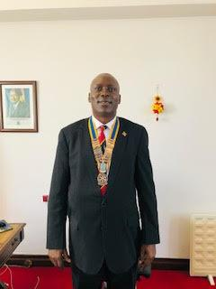 Inaugural visit and address by District Governor Francis Uwaechi  - President of the Rotary Club of Westminster West - H.E. Amb Julius Peter Moto