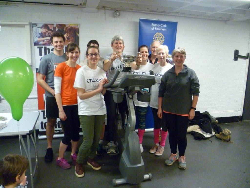 Annual Cyclathon took place on 18 March at The Maltings. The Farnham Health Challenge was won by Farnham Denes practice.