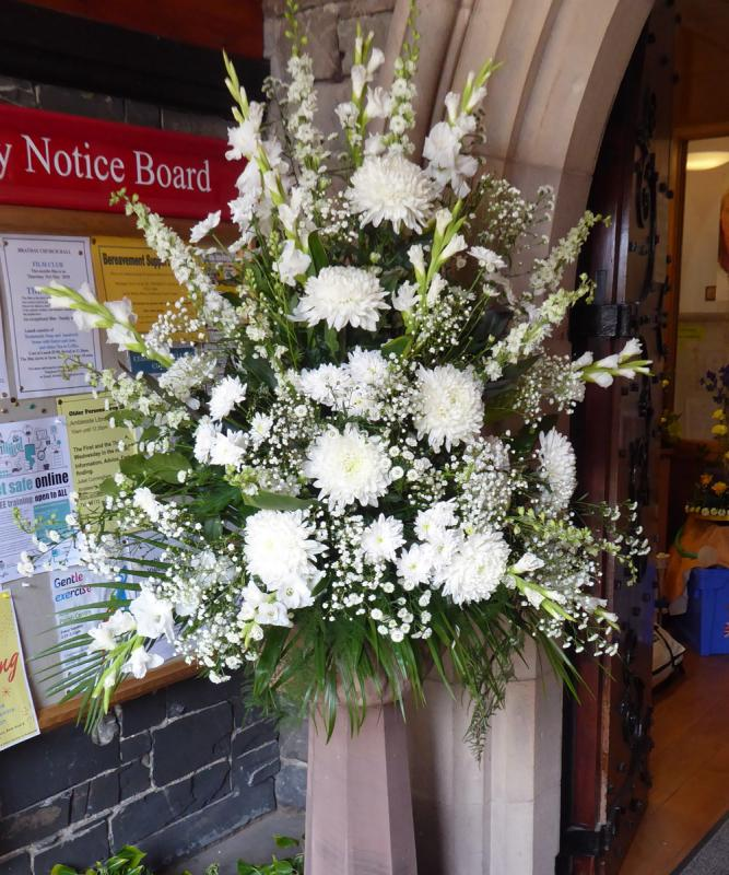 Community Flower Festival - The welcoming display in the church porch