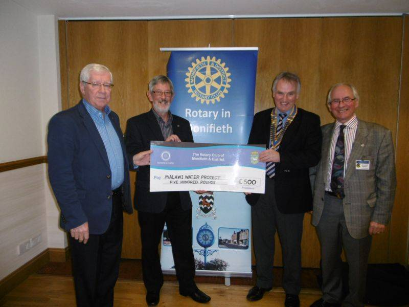 The club has donated £500 for water pumps and toilets in Malawi.