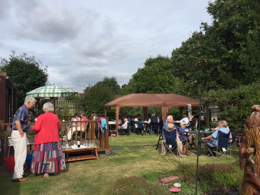 Summer Feast at Robin's - Rotarians in the garden