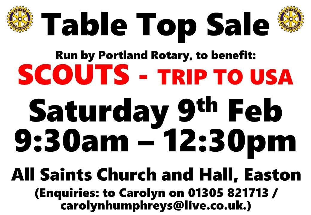 Table Top Sales -