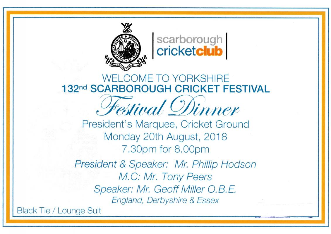 Rotarians and guests take a at this convivial dinner. There are many knowledgeable lady cricket fans - we would welcome more of you to this event on  Monday 24th August 2020