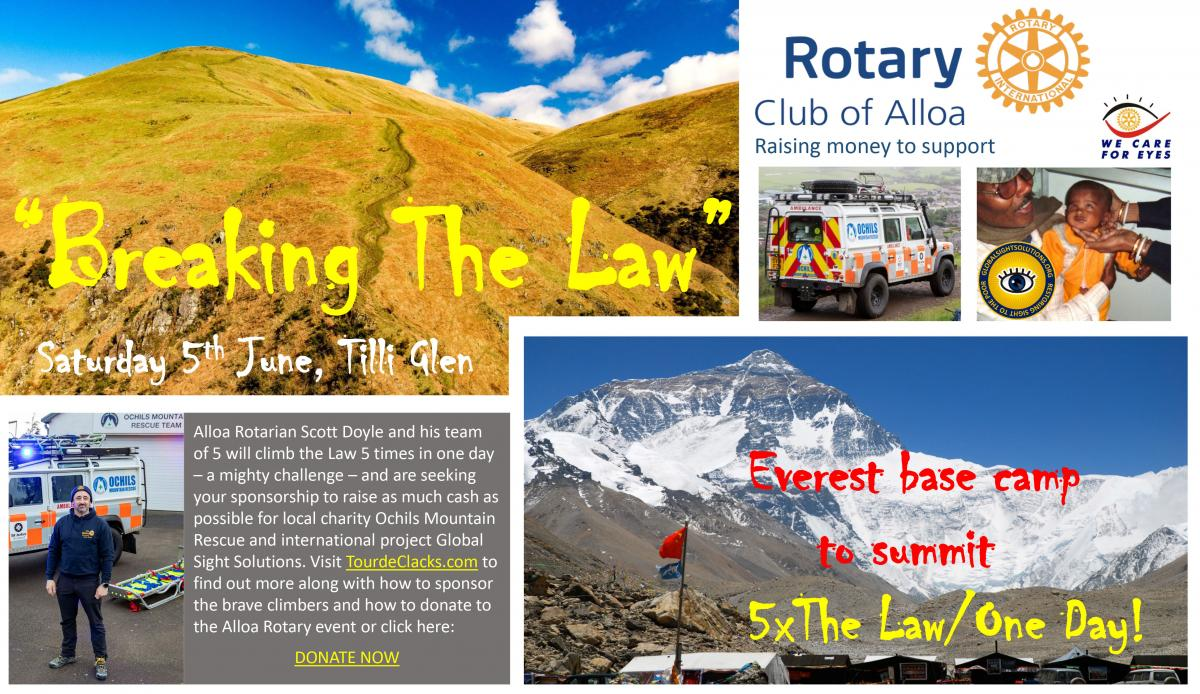 Help us raise funds for Ochils Mountain Rescue and Global Sight Solutions.