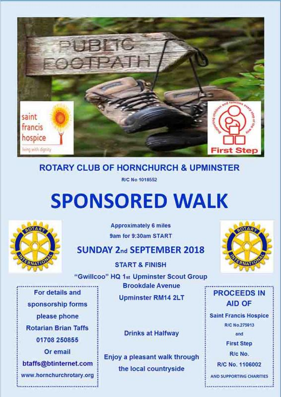 This years Sponsored Walk was on 2-Sep-2018 -