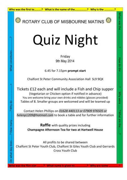 Charity Quiz Night 2014 -
