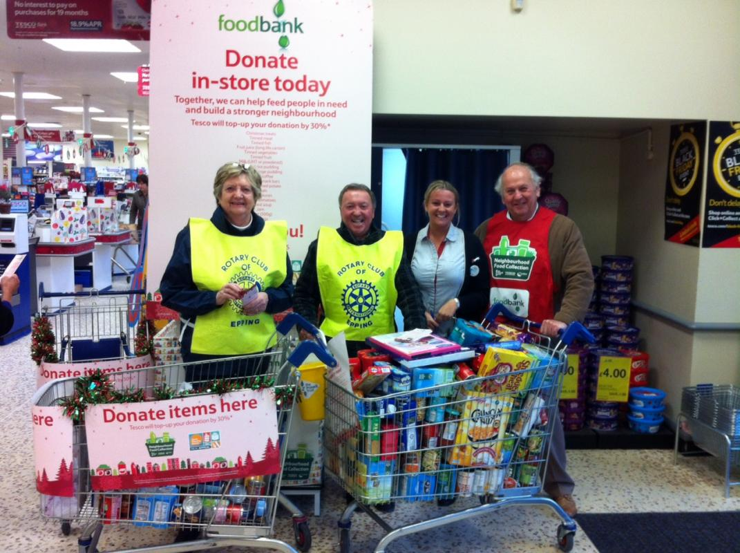 Jubilee Food Bank receive a donation of food stuffs from the Rotary Club of Sheffield
