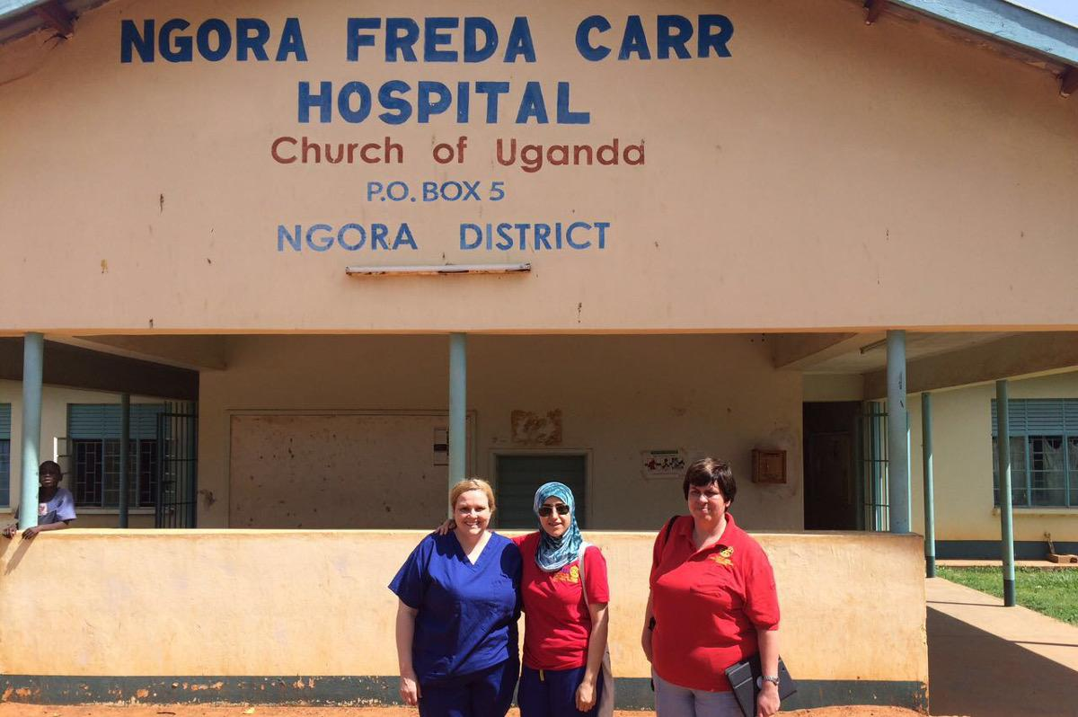 the April 2017 team members at the Ngora Freda Carr Hospital
