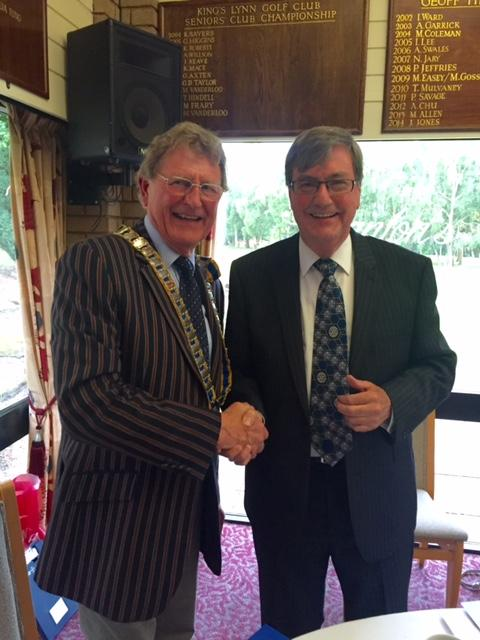 President's Installation 2016 - Incoming President John Mansfield  and immediate past President Peter Tasker