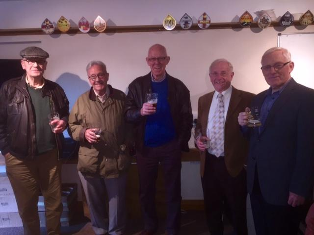 Lytham Club Rotarians - Brewery Visit - Rotarians sample the local real ale
