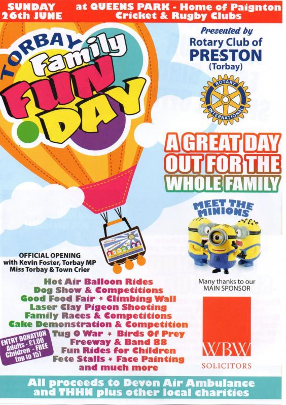 Family Fun Day - 26th June 2016 at Queen's Park - Family Fun  Day June 26th 2016 at Queen's Park