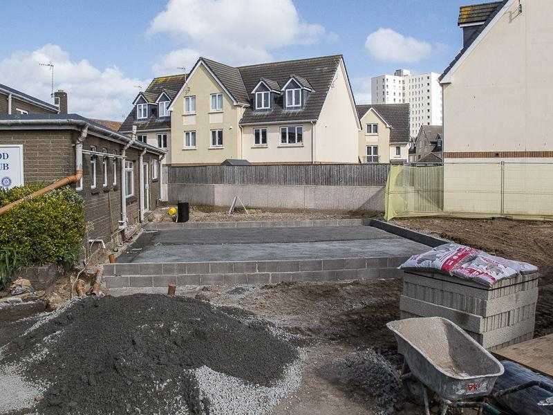 Progress on Renovation at 18th May 2015 - Foundation slab in place.
