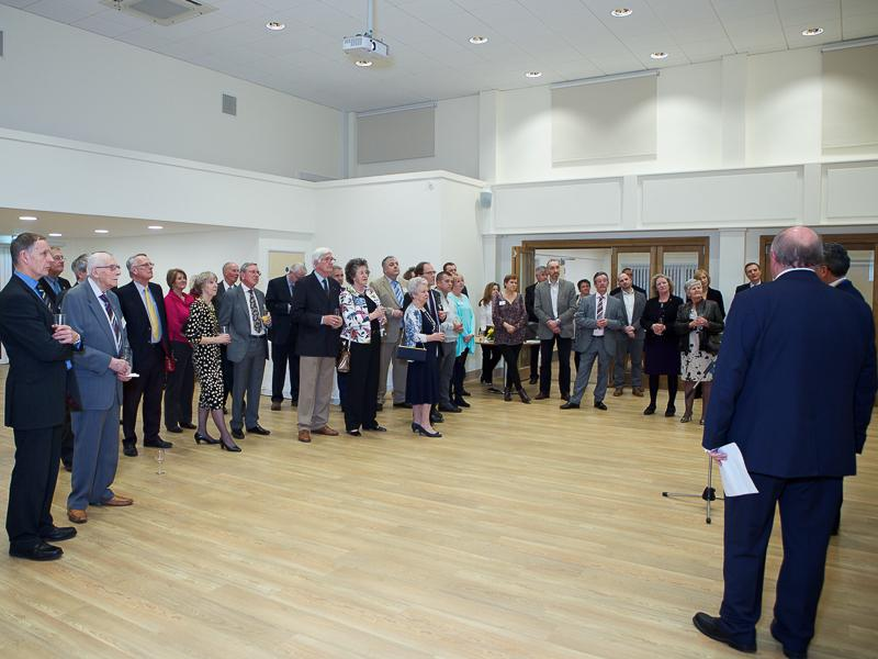 Good Companions Club Opening - Chairman Jurat Jerry Ramsden addresses the invitees