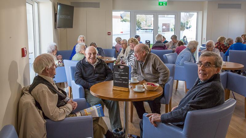 The New Club in action - Feb 2016 - Good Companions Club Members enjoying the new Lounge