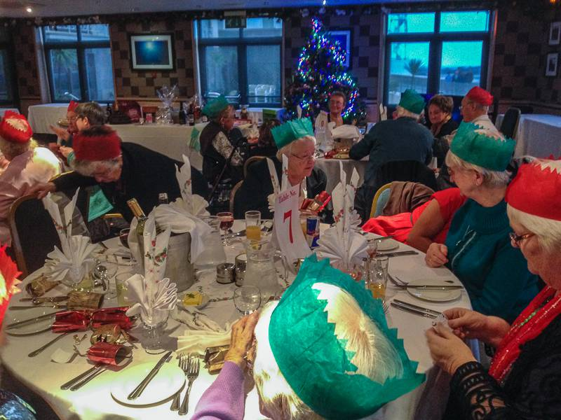 Good Companions Christmas Lunch - Members seated and ready for the fun.