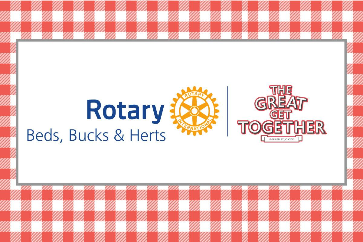 Rotary in Beds, Bucks and Herts working with the Great Get Together project.