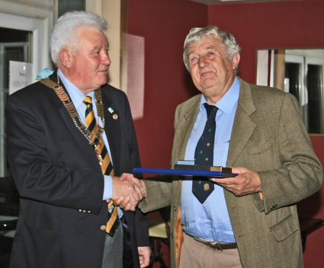 District Governor's visit  - The District Governor John Barbour visited the Club and after an entertaining short talk presented Graham Young with the Paul Harris Fellowship.