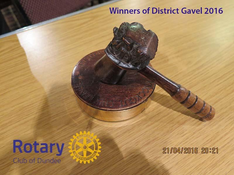 District Gavel Competition 2016 - The 'Gavel'
