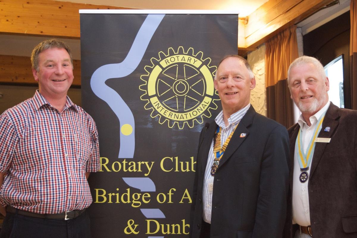 Club Assembly - President Elect George Morrison, Nick Rawlings, ADG Alastair Spowage