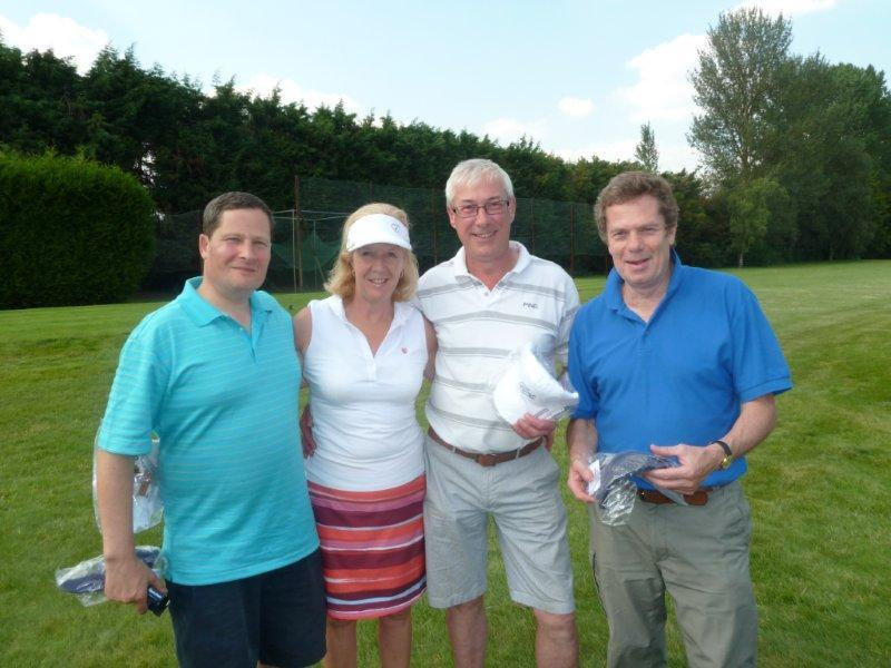 Charity Golf Day  - Runners up were Shaw Stars - David Shaw, Jayne Parsonage, Neil Parsonage & Paul Johnson. Geoff Kidd & Tony Monk Organised the very successful day.