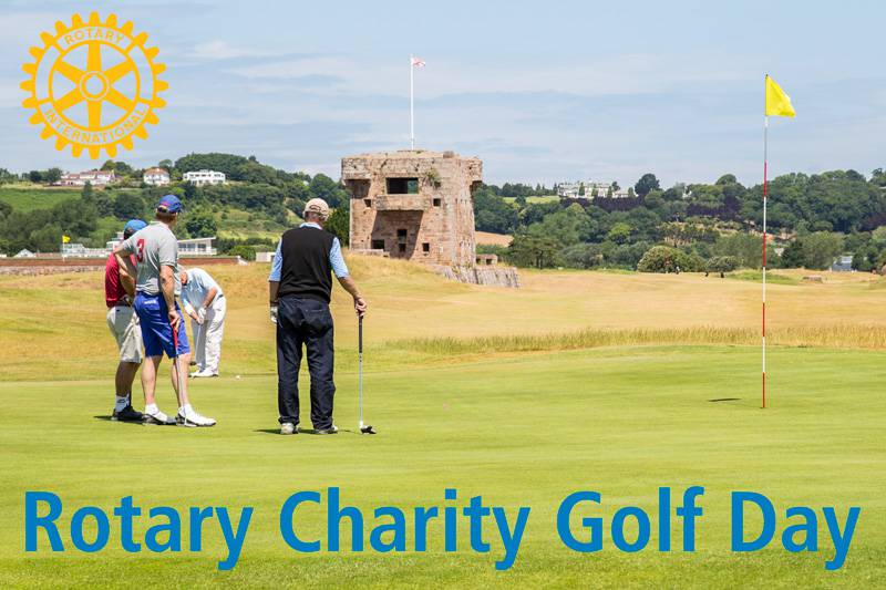 Raising funds for local charities at Royal Jersey Golf Club.