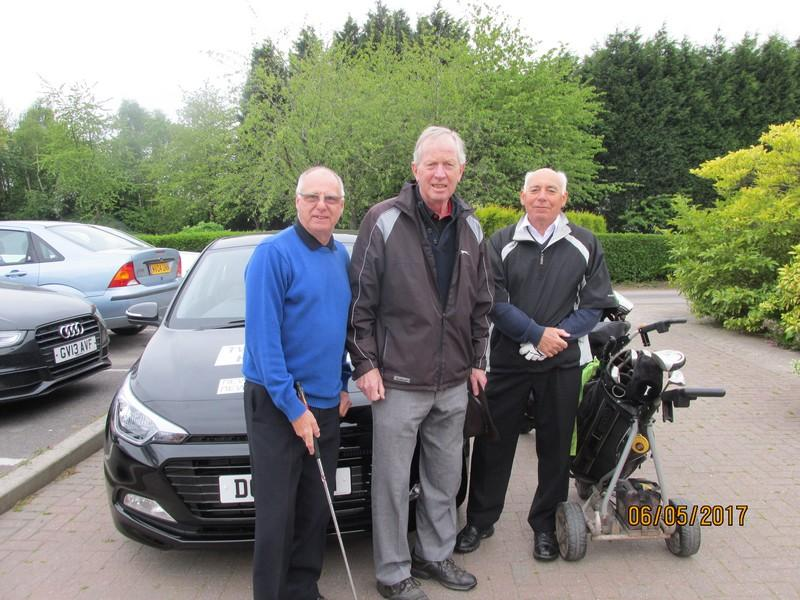 Presentation to Nearest the Hole winner and runner up - Golf Club members with the TWG car