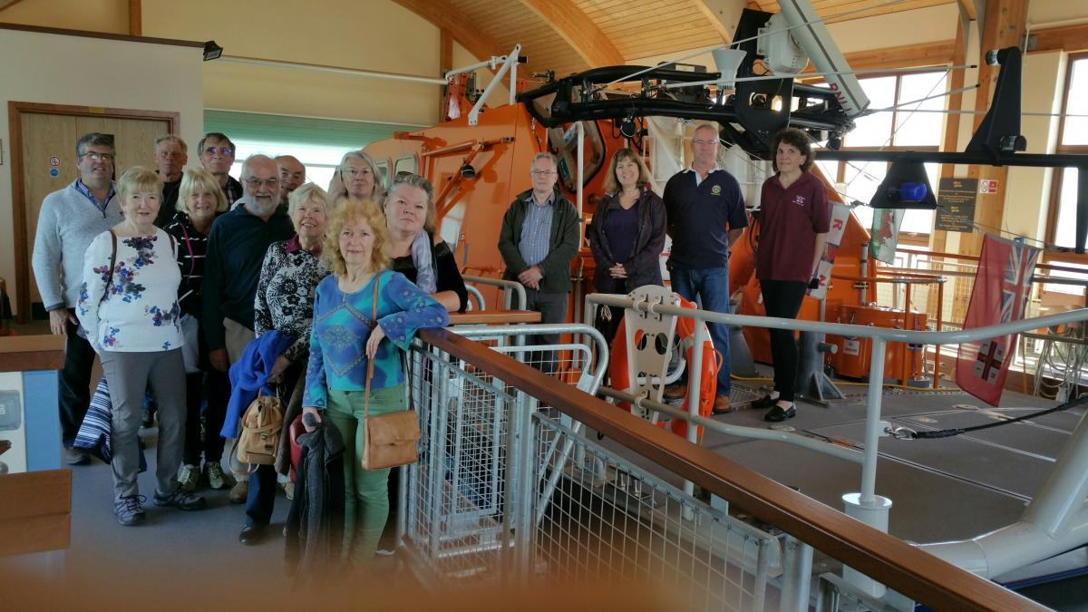 Club Fellowship and Friendship - A weekend in The Gower, here visiting a lifeboat station