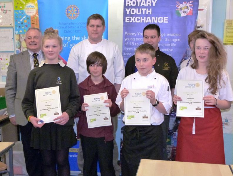 Young Chef 2013-14: District Final at R Lander School - The contestants, judges and organisers